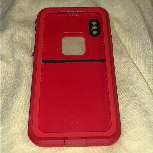 online retailer 0347d d5ab9 Red Lifeproof Case iPhone X
